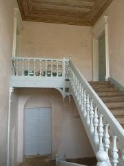 Ancienne abbaye de Fontaine Vive, ou de Grosbot - Français:   Abbaye de Grosbot (Charras, Charente, France). Escalier dans l\'aile ouest