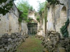 Ancienne abbaye de Fontaine Vive, ou de Grosbot - Français:   Abbaye de Grosbot (Charras, Charente, France). Intérieur de l\'église