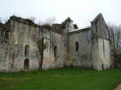 Ancienne abbaye de Fontaine Vive, ou de Grosbot - English: remains of the abbey of Grosbot, Charras, Charente, SW France
