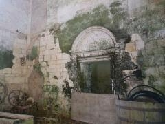 Ancienne abbaye de Fontaine Vive, ou de Grosbot - Français:   Abbaye de Grosbot (Charras, Charente, France). Dans le croisillon nord; entrée salle capitulaire