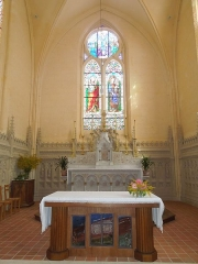 Eglise Saint-Maurice - English: Salles-d'Angles, altar in the church Saint-Maurice in Salles