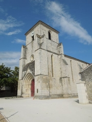 Eglise Saint-Maurice - English: Salles-d'Angles, western facade of the church Saint-Maurice in Salles, seen from southwest