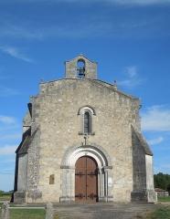 Commanderie Saint-Jean - English: Le Tâtre, Église Saint-Jean, western facade