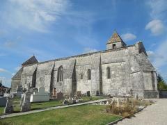 Eglise Saint-Eutrope - English: Agudelle, Église Saint-Eutrope, southeast view
