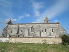 Eglise Saint-Eutrope - English: Agudelle, Église Saint-Eutrope, seen from the south