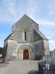 Eglise Saint-Eutrope - English: Agudelle, Église Saint-Eutrope, western facade