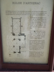 Eglise Saint-Martin - English: Arthenac: information board at the church Saint-Martin