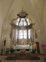 Eglise Saint-Martin - English: Arthenac: eglise Saint-Martin, altar