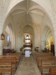 Eglise Saint-Martin - English: Arthenac: nave of the church Saint-Martin