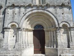 Eglise Saint-Martin - English: Arthenac: church Saint-Martin, portal