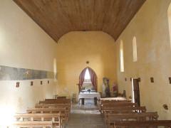 Eglise Notre-Dame - English: Avy, village church Notre-Dame, interior