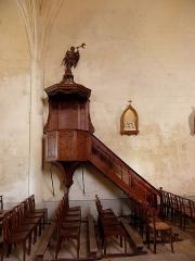 Eglise de la Trinité - Français:   Église Saint-Sauveur de Bignay (17). Chaire à prêcher.