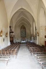 Eglise de la Trinité - Français:   Intérieur de l\'Église Saint-Sauveur de Bignay (Charente-Maritime, France).