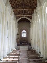 Eglise Saint-Martin - Deutsch:   Die katholische Pfarrkirche Saint-Martin in Chadenac, Innenansicht