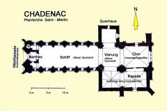 Eglise Saint-Martin - Deutsch:   Chadenac, Grundriss, handskizze