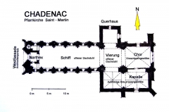 Eglise Saint-Martin - Deutsch:   Chadenac, Pfarrkirche St.-Martin, Grundriss
