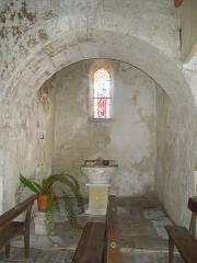 Eglise Saint-André - English:   Clion, Église Saint-André, baptismal chapel