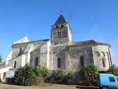Eglise Saint-André - English:   Clion, Église Saint-André, view from the south inside the museum yard