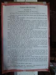 Eglise Saint-André - English:   Clion, Saint-André, information sheet in the church