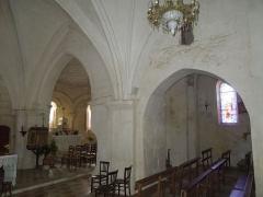 Eglise Saint-André - English:   Clion, Église Saint-André, the main altar seen from inside the northern aisle