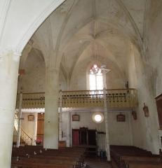 Eglise Saint-André - English:   Clion, Église Saint-André, western end of the northern aisle