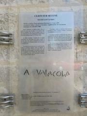 Eglise Saint-André - English:   Clion, information board at the Église Saint-André