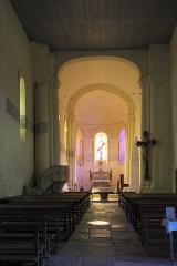 Eglise Saint-Pierre - Deutsch: Kirche Saint-Pierre in Dampierre-sur-Boutonne im Département Charente-Maritime (Nouvelle-Aquitaine/Frankreich), Innenraum
