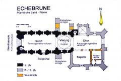 Eglise Saint-Pierre - Deutsch: Echebrune, St.-Pierre, Grundriss