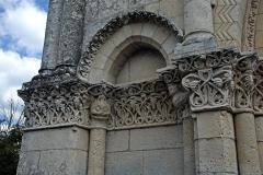 Eglise Saint-Pierre - Deutsch: Echebrune, St.-Pierre, Archivolten- Blindportal links