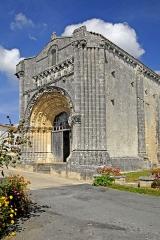 Eglise Notre-Dame - Deutsch: Fenioux, Fassade u. Anschluss Schiff von SW