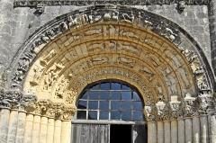 Eglise Notre-Dame - Deutsch: Fenioux, Fassade, Archivoltenbögen u. Kapitelle