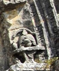 Eglise Notre-Dame - Deutsch: Fenioux, 5. Archivoltenbogen, rechts unten