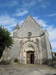 Eglise Saint-Pierre - English: Fléac-sur-Seugne, church Saint-Piere, west facade