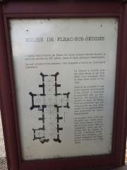 Eglise Saint-Pierre - English: Fléac-sur-Seugne, information board at the village church Saint-Pierre