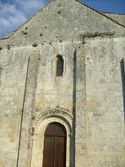 Eglise Saint-Vivien - Français:   Façade de l\'église de Geay
