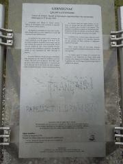 Eglise Saint-Pierre - English: Germignac, information board at the church Saint-Pierre