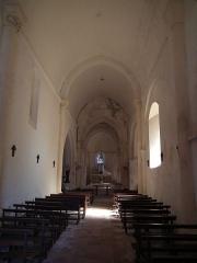 Eglise Saint-Romain - Français:   Intérieur de l\'église de Guitinières