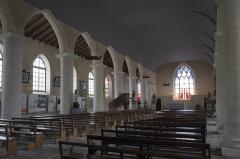 Eglise Saint-Pierre - Deutsch: Kirche Saint-Pierre in Hiers-Brouage im Département Charente-Maritime (Nouvelle-Aquitaine/Frankreich), Innenraum