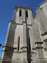 Eglise Sainte-Marie ou Notre-Dame - Deutsch: Der Turm der katholischen Pfarrkirche Sainte-Marie in Lonzac, gesehen von Osten