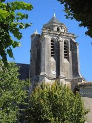 Eglise Sainte-Marie ou Notre-Dame - Deutsch: Turm der katholischen Pfarrkirche Sainte-Marie in Lonzac, gesehen von Süden