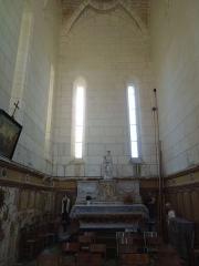Eglise Sainte-Marie ou Notre-Dame - Deutsch: Das nördliche Querschiff der katholischen Pfarrkirche Sainte-Marie in Lonzac