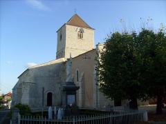 Eglise Saint-Pierre-ès-Liens -  Eglise et clocher de Lorignac
