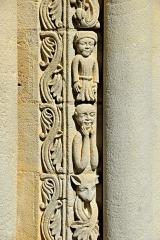 Eglise Saint-Herie - Deutsch: Ste.-Hérie, Säulenbegleiter, Detail