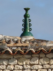 Château - English: Finial, castle of Meux, Charente-Maritime, SW France