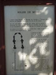 Eglise Saint-Martin - English: Moings: information board at the village church Saint-Martin