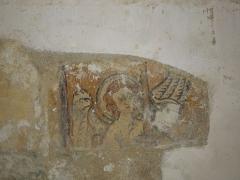 Eglise Saint-Martin - English: Moings: fresco detail in the village church Saint-Martin