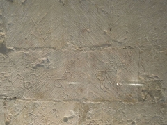 Eglise Saint-Martin - English: Moings: medieval graffiti in the village church