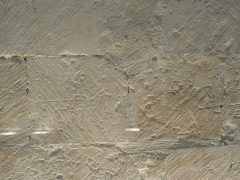 Eglise Saint-Martin - English: Moings: medieval graffiti in the church