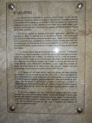 Eglise Saint-Martin - English:   Moings: information board in the church (1)