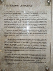 Eglise Saint-Martin - English: Moings: information board in the church (2)